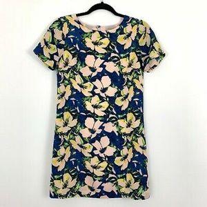 J.crew summer floral short sleeve dress